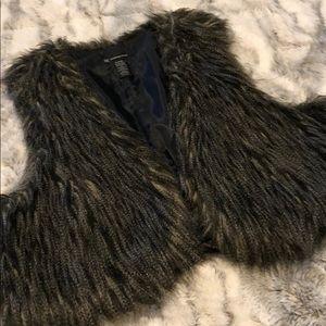 Feather vest fashion blazer